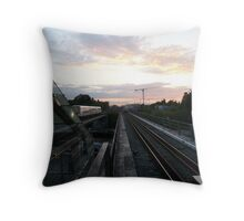 Ride in the Sunset Throw Pillow