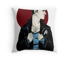Punk!Spock Clear Throw Pillow