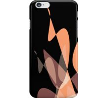 Orange/Peach & Black Graphic iPhone/iPod & iPad iPhone Case/Skin