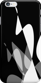 Black & White Graphic iPhone/iPod & iPad by GJPart