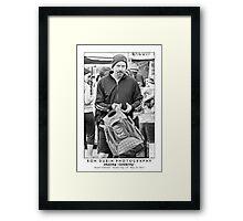 Bryan Cranston - Breaking to Shop Framed Print