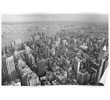 To the east, Empire State Building, NYC Poster