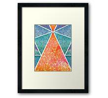 Pyramids Of Ghiza Framed Print