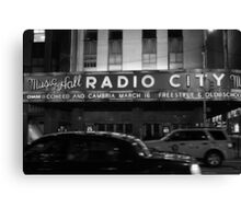 Late-night Radio City Music Hall, NYC Canvas Print