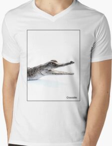 Crocodile Mens V-Neck T-Shirt