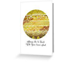 Tribal Evolution Series II Greeting Card