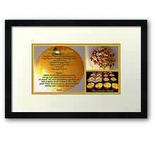 Savoury Muffins with recipe Framed Print
