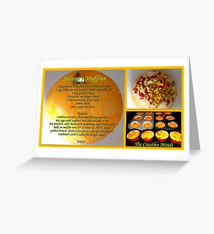 Savoury Muffins with recipe Greeting Card
