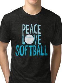 Peace, Love, Softball Tri-blend T-Shirt