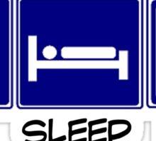 Eat, Sleep, Softball Sticker