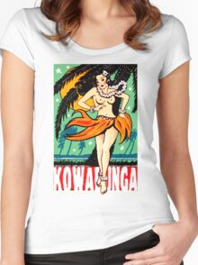 Kowabunga! Women's Fitted Scoop T-Shirt