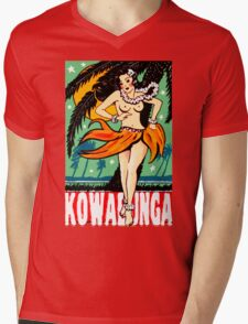 Kowabunga! Mens V-Neck T-Shirt