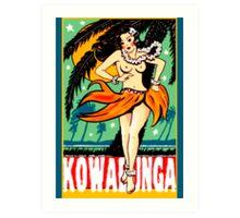 Kowabunga! Art Print