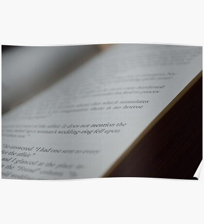 Words on a Page Poster