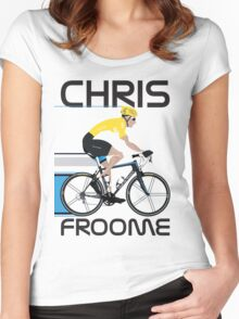 Chris Froome Yellow Jersey Women's Fitted Scoop T-Shirt