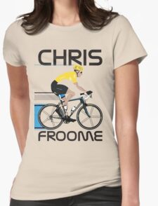 Chris Froome Yellow Jersey Womens Fitted T-Shirt