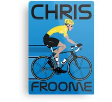Chris Froome Yellow Jersey Metal Print