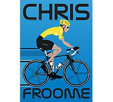 Chris Froome Yellow Jersey Photographic Print