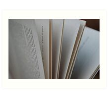 Pages of a Book Art Print