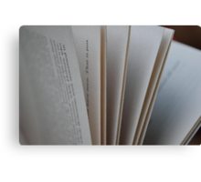 Pages of a Book Canvas Print
