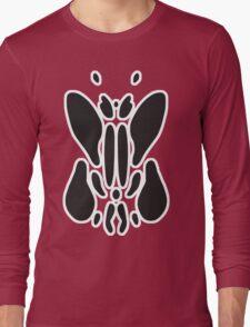 Rorschach Ink Blot Test - White border. Long Sleeve T-Shirt