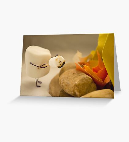 Cannibalism is Sweet - Anthropomorphic Marshmallow Greeting Card
