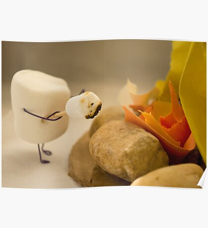 Cannibalism is Sweet - Anthropomorphic Marshmallow Poster
