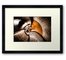 Curvation Framed Print