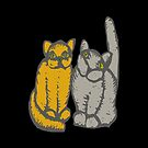 Cats couple - pets, cats, kittens, rescue,  by fuxart
