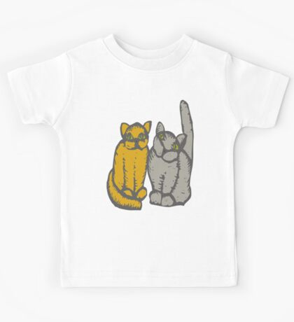 Cats couple - pets, cats, kittens, rescue,  Kids Tee