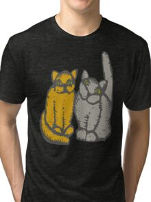 Cats couple - pets, cats, kittens, rescue,  Tri-blend T-Shirt