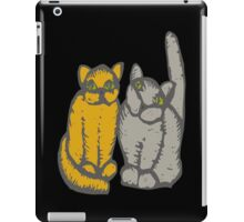 Cats couple - pets, cats, kittens, rescue,  iPad Case/Skin