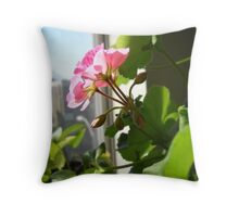 Blooming under the sun Throw Pillow