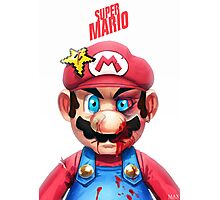 Beat Up Mario Photographic Print