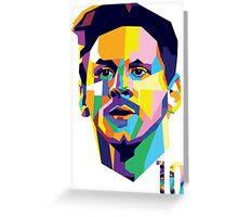 Messi ART Greeting Card