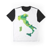 Italy regions map Graphic T-Shirt