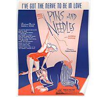 I'VE GOT THE NERVE TO BE IN LOVE (vintage illustration) Poster