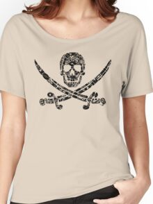 Pirate Service Announcement - Black Women's Relaxed Fit T-Shirt