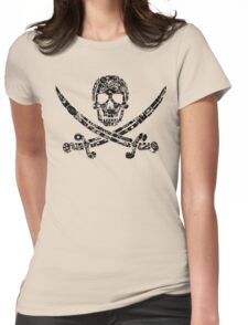 Pirate Service Announcement - Black Womens Fitted T-Shirt