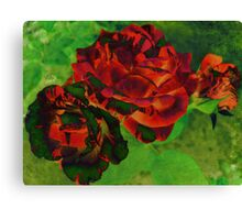 Colourful Textured Roses Canvas Print
