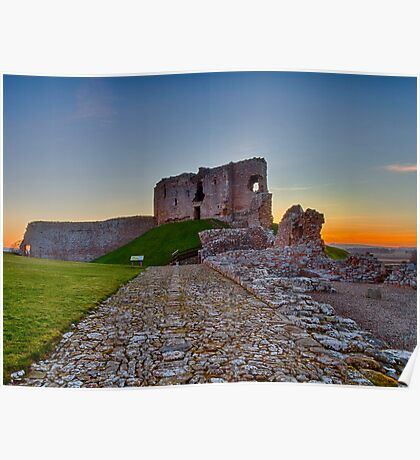 DUFFUS - THE CASTLE SUNSET Poster