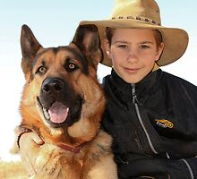 PALS.... Kaptein & Dawid (German Shepherd & Boer Son from the Free State) by Qnita