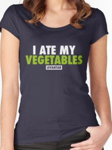 I Ate My Vegetables (White) Women's Fitted Scoop T-Shirt