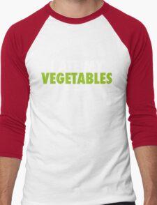 I Ate My Vegetables (White) Men's Baseball ¾ T-Shirt