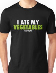 I Ate My Vegetables (White) Unisex T-Shirt