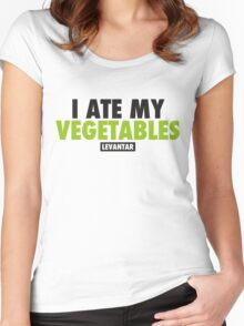 I Ate My Vegetables (Black) Women's Fitted Scoop T-Shirt