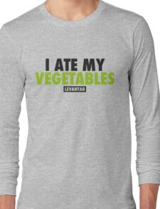 I Ate My Vegetables (Black) Long Sleeve T-Shirt
