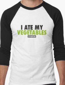 I Ate My Vegetables (Black) Men's Baseball ¾ T-Shirt