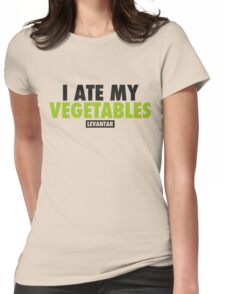 I Ate My Vegetables (Black) Womens Fitted T-Shirt
