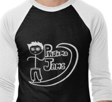 Pajama Jams Logo #1 - Eugene Style, White Version Men's Baseball ¾ T-Shirt